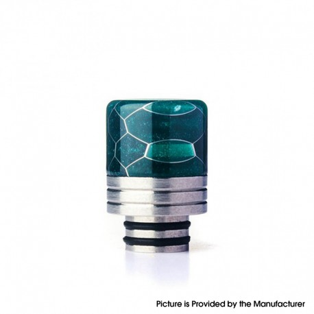 Authentic REEWAPE AS319S 510 Drip Tip for RDA / RTA / RDTA / Sub Ohm Tank Vape Atomizer - Green, Resin & SS, 20mm