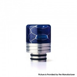 Authentic REEWAPE AS319S 510 Drip Tip for RDA / RTA / RDTA / Sub Ohm Tank Vape Atomizer - Blue, Resin & SS, 20mm