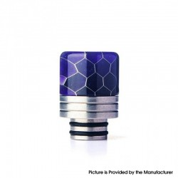 Authentic REEWAPE AS319S 510 Drip Tip for RDA / RTA / RDTA / Sub Ohm Tank Vape Atomizer - Purple, Resin & SS, 20mm