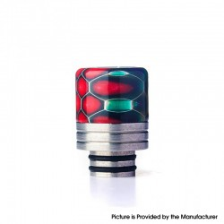 Authentic REEWAPE AS319S 510 Drip Tip for RDA / RTA / RDTA / Sub Ohm Tank Vape Atomizer - Purple Red Green, Resin & SS, 20mm