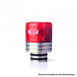 Authentic REEWAPE AS319S 510 Drip Tip for RDA / RTA / RDTA / Sub Ohm Tank Vape Atomizer - Red, Resin & SS, 20mm