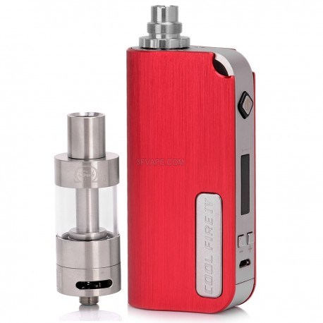 Authentic Innokin CoolFire IV 2000mAh VV / VW Mod + iSub G Clearomizer Starter Kit - Red, 3~7.5V, 6~40W, 4.5mL, 0.5 ohm