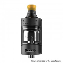 Authentic Innokin Ares 2 D24 LE MTL RTA Rebuildable Tank Vape Atomizer - ONYX, 4.0ml, 24mm Diameter, Limited Edition