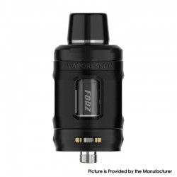 Authentic Vaporesso Forz Tank 25 Clearomizer Vape Atomizer - Black, 4.5ml, 0.15ohm / 0.4ohm, 27mm Diameter