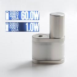 5Avape Stratum Balance Style 60W TC VW Vape Box Mod - White + Silver, POM + SS, 1~60W, 1 x 18350 / 18650