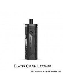 Authentic Lost Vape Thelema 80W Pod System VW Mod Kit - Black/Grain Leather, 3000mAh, 5~80W, 4.0ml, 0.2ohm / 0.3ohm