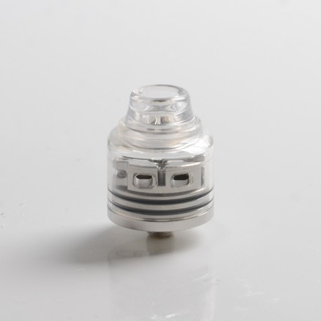 Authentic Oumier Wasp Nano S Dual-Coil RDA Rebuildable Dripping Vape Atomizer w/ BF Pin - Silver, 25mm Diameter