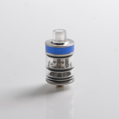 Authentic Auguse Khaos RDTA Rebuildable Dripping Tank Vape Atomizer w/ BF Pin - Silver, SS + Glass / PC, 22mm, 2.0ml