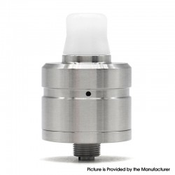 Vapeasy Sprint Style BF RDA Rebuildable Dripping Vape Atomizer - Silver, 316 Stainless Steel, 22mm Diameter