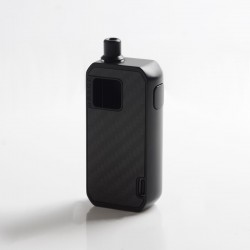 Authentic Augvape Druga Narada 1100mAh Box Mod Pod System Vape Starter Kit - Black Carbon Fiber, Zinc Alloy, 2.8ml, 0.5 / 0.6ohm