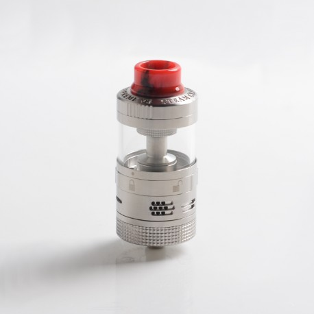 Authentic Steam Crave Aromamizer Supreme V3 RDTA Rebuildable Dripping Tank Vape Atomizer Advanced Kit - Silver, 6.0/ 7.0ml, 25mm
