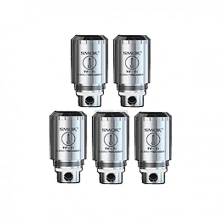 Authentic SMOKTech TF-TI Titanium Core Coil Heads for TFV4 / TFV4 Mini Tank - Silver, 0.33 Ohm (450'F~600'F)