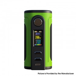 Authentic Ultroner x Fallout Vape Gaea 200W Vape Box Mod - Green, VW 5~200W, 2 x 18650 / 20700 / 21700, Sevo 200C Chipset