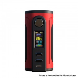 Authentic Ultroner x Fallout Vape Gaea 200W Vape Box Mod - Red, VW 5~200W, 2 x 18650 / 20700 / 21700, Sevo 200C Chipset