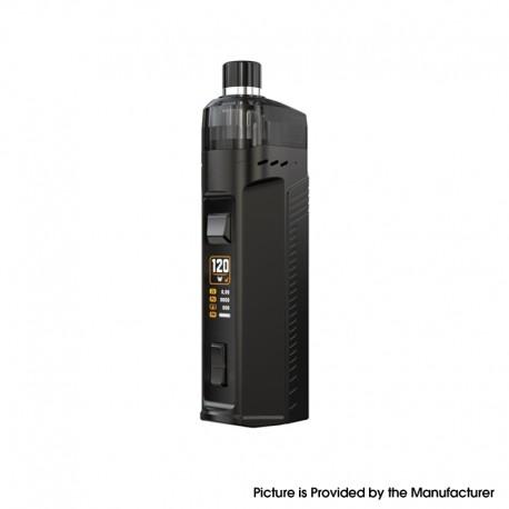 Authentic Artery Cold Steel AIO 120W Pod System Vape Mod Kit RBA Version - Gun Metal, 1 x 18650 / 20700 / 21700, 2.0ml