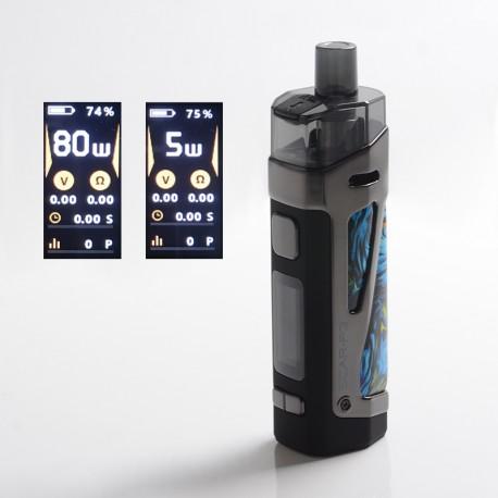 Authentic SMOKTech SMOK SCAR-P3 80W 2000mAh VW Box Mod Pod System Vape Starter Kit - Fluid Blue, Zinc Alloy, 5~80W