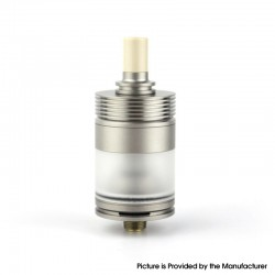 Authentic BP Mods Pioneer MTL / DL RTA Rebuildable Tank Vape Atomizer - Silver, Titanium Alloy + PC, 3.7ml, 22mm Diameter