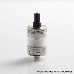 Vapeasy Experiment 3 V3 Style MTL RTA Rebuildable Tank Vape Atomizer - Silver, 316 Stainless Steel, 2.5ml, 22mm Diameter
