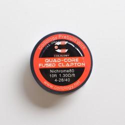 Authentic Coilology Quad-core Fused Clapton Spool Wire for RDA / RTA / RDTA Vape Atomizer - Ni80, 4-28GA / 40GA, 1.3ohm/ft, 10ft