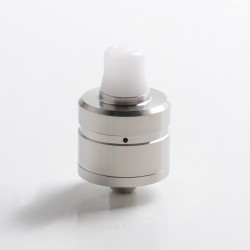 Sprint Style BF RDA Rebuildable Dripping Vape Atomizer - Silver, 316 Stainless Steel, 22mm Diameter