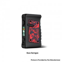 Authentic Vandy Vape Jackaroo Dual 188W TC VW Vape Box Mod - Resin Red Agate, 5~188W, 2 x 18650, IP67 Waterproof