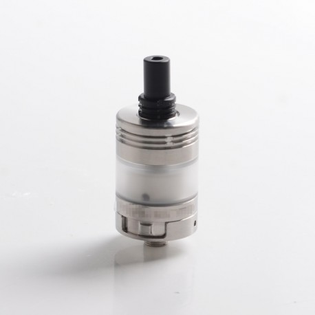 SXK Experiment 3 V3 Style MTL RTA Rebuildable Tank Vape Atomizer - Silver, 316 Stainless Steel, 2.5ml, 22mm Diameter