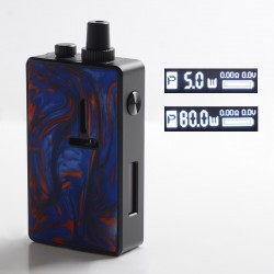 Authentic Mechlyfe Ratel XS 80W TC VW DL / MTL Rebuildable AIO Pod System Vape Kit - Black & Resin Blue, 5.5ml, 5~80W, 1 x 18650