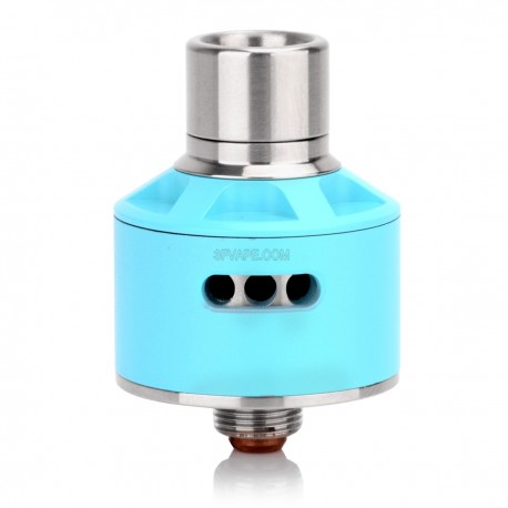 Stumpy Style RDA Rebuildable Dripping Atomizer - Blue, Stainless Steel, 22mm Diameter