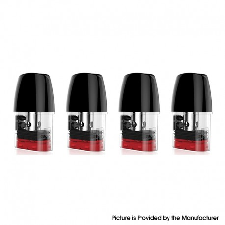 Authentic Vaporbucks Simmi Replacement Pod Cartridge w/ 1.2ohm MTL Coil - 1.8ml (4 PCS)