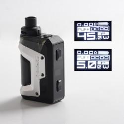 Authentic GeekVape Aegis Hero 45W VW Pod System Vape Starter Kit - Silver, 1200mAh, 5~45W, 4.0ml, 0.4ohm / 0.6ohm