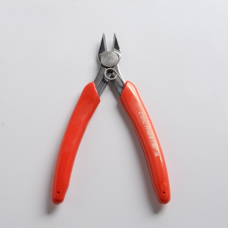 Authentic Coil Master Wire Cutters - Red, Chrome-Vanadium Steel, Flush Cut, Angled Precision