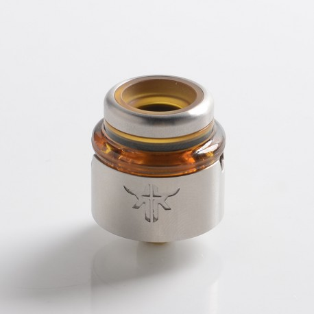 Authentic Vandy Vape Requiem RDA Rebuildable Dripping Vape Atomizer - Silver, DL / RDL / MTL, 22mm Diameter
