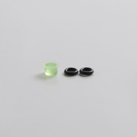 Replacement Small Button for dotMod dotAIO Vape Pod System - Translucent Green, Acrylic (1 PC)