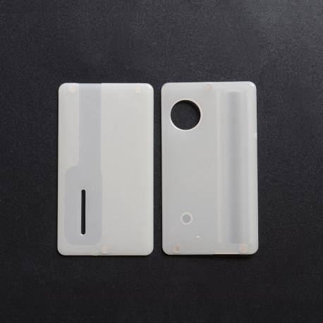 Replacement Front + Back Door Panel Plates for dotMod dotAIO Vape Pod System - Glow-in-the-Dark, PCTG (2 PCS)