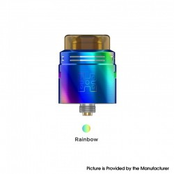 Authentic GeekVape TALO X RDA Rebuildable Dripping Vape Atomizer w/ BF Pin - Rainbow, Stainless Steel, 24mm Diameter