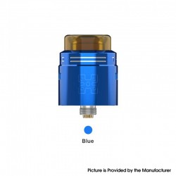 Authentic GeekVape TALO X RDA Rebuildable Dripping Vape Atomizer w/ BF Pin - Blue, Stainless Steel, 24mm Diameter