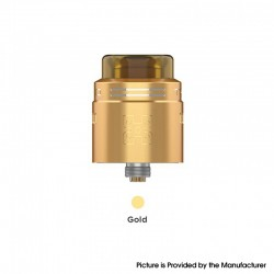 Authentic GeekVape TALO X RDA Rebuildable Dripping Vape Atomizer w/ BF Pin - Gold, Stainless Steel, 24mm Diameter