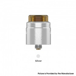 Authentic GeekVape TALO X RDA Rebuildable Dripping Vape Atomizer w/ BF Pin - Silver, Stainless Steel, 24mm Diameter