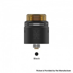 Authentic GeekVape TALO X RDA Rebuildable Dripping Vape Atomizer w/ BF Pin - Black, Stainless Steel, 24mm Diameter