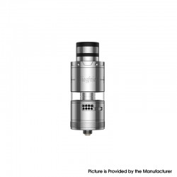 Authentic Vapefly Siegfried Meshed RTA Rebuildable Tank Vape Atomizer - Silver, 7.0ml, 25.2mm Diameter