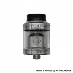 Authentic Augvape Druga RTA Rebuildable Tank Vape Atomizer - Silver, Stainless Steel + Glass, 2.4ml / 3.5ml, 24mm Diameter