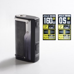 Authentic VOOPOO Argus GT 160W TC VW Variable Wattage Vape Box Mod - Vintage Grey, 5~160W, 2 x 18650