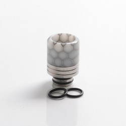 Authentic REEWAPE AS319S 510 Drip Tip for RDA / RTA / RDTA / Sub Ohm Tank Vape Atomizer - Grey White, Resin & SS, 20mm