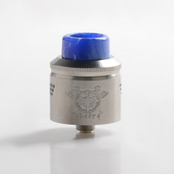 Authentic MECHLYFE x AmbitionZ Vaper Slatra Mesh RDA Rebuidable Atomizer w/ BF Pin - Silver, Stainless Steel, 25mm Diameter