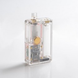 SXK BB Style 70W All-in-One VW TC Variable Wattage Box Mod Kit w/ USB Port - Transparent, Acrylic, 1~70W, 1 x 18650