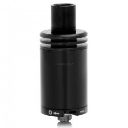 Nixon Style RDA Rebuildable Dripping Atomizer - Black, Stainless Steel, 22mm Diameter