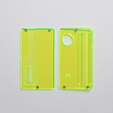 Replacement Front + Back Door Panel Plates for dotMod dotAIO Vape Pod System - Translucent Green, PCTG (2 PCS)