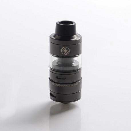 Authentic Kizoku Unlimit DL RTA Rebuildable Tank Vape Atomizer w/ Prebuild Coil - Gun Metal, SS + Glass, 3.5ml, 24mm Diameter