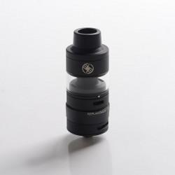 Authentic Kizoku Unlimit DL RTA Rebuildable Tank Vape Atomizer w/ Prebuild Coil - Matte Black, SS + Glass, 3.5ml, 24mm Diameter