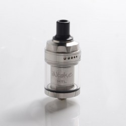 Authentic Augvape Intake MTL RTA Rebuildable Tank Vape Atomizer - Silver, Stainless Steel + Glass, 3.1ml / 4.6ml, 24mm Diameter